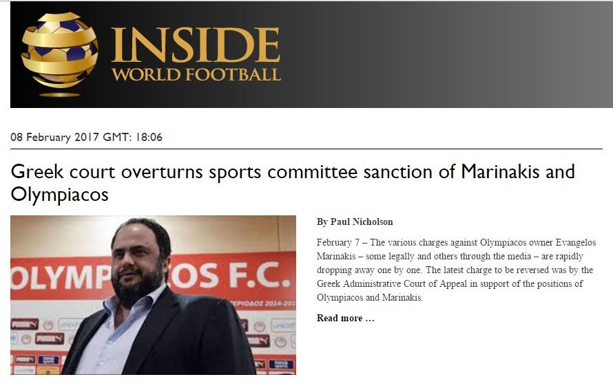 Photo of Πρώτο θέμα και στο εξωτερικό η δικαίωση του Βαγγέλη Μαρινάκη!