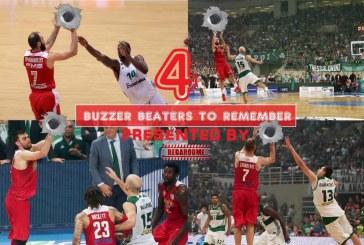 Τα τέσσερα αλησμόνητα buzzer beater εναντίον του Παναθηναϊκού (video)