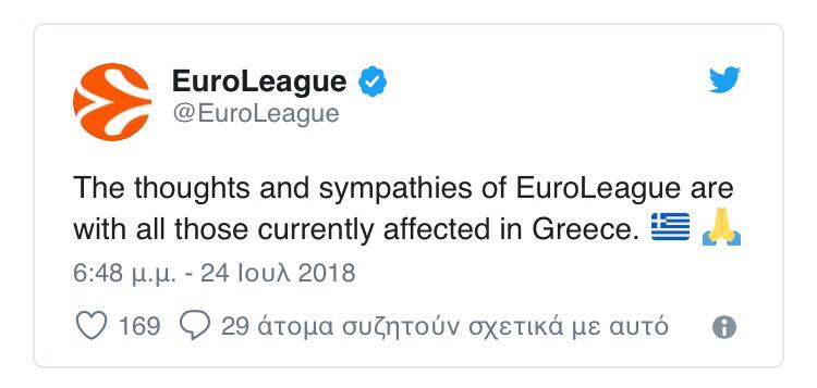 Photo of EuroLeague «Οι σκέψεις μας στους Έλληνες»