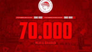 Photo of «70.000 Μέλη & Φίλαθλοι! Σας ευχαριστούμε και συνεχίζουμε!